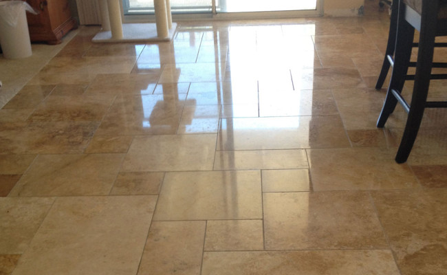 Travertine Polished to Like New ...