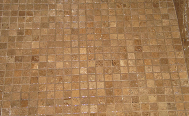 Travertine Shower After