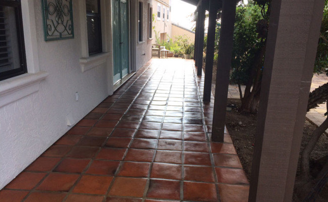 Tecate Paver Porch After Cleaning and Sealing