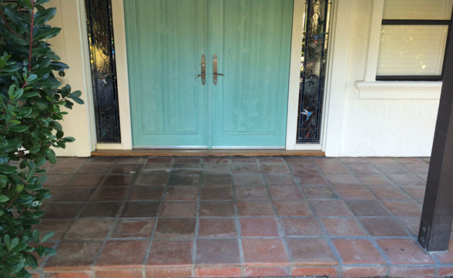 Tecate Paver Porch Needs Professional Cleaning and Sealing
