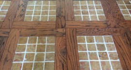 Limestone and Wood Floor After Restoration