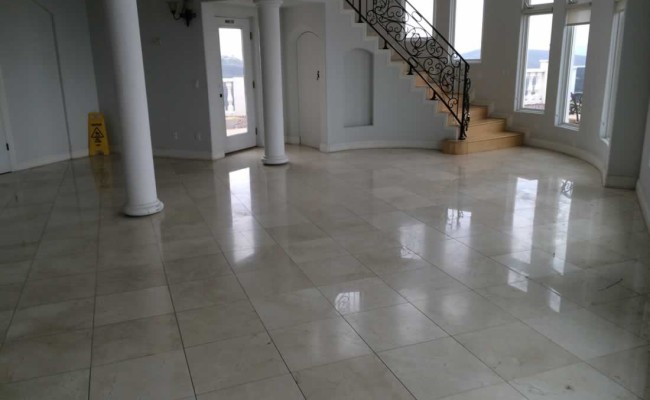 Marble Floor Needs Honing and Polishing