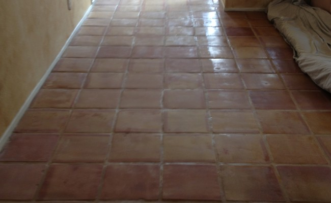Mexican Pavers Before Cleaning and Sealing
