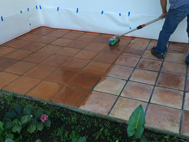 pavers-staining