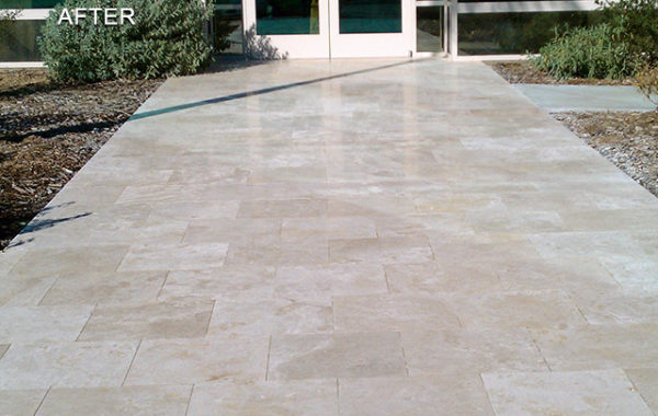 Anti-Slip Travertine Entry