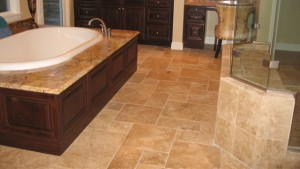 Stone and Tile Bath and Shower