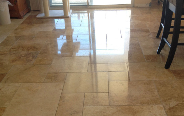Rescued Travertine Floor
