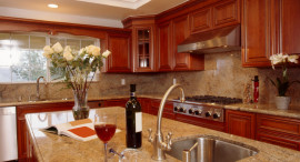 polished granite countertop