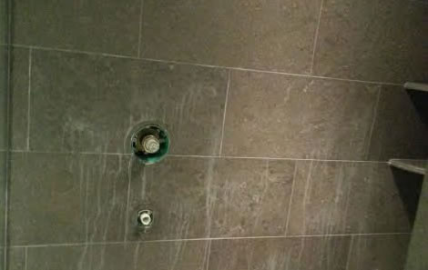 Limestone Shower Damaged