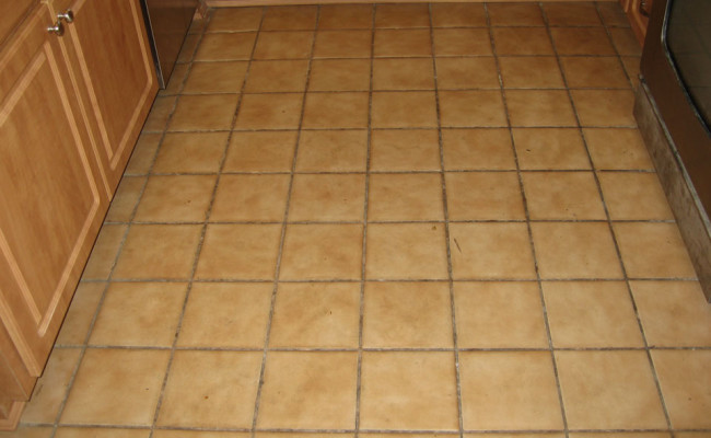 Porcelain Tile Before Cleaning
