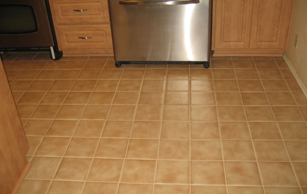 Restored 25-Year-Old Tile Floor