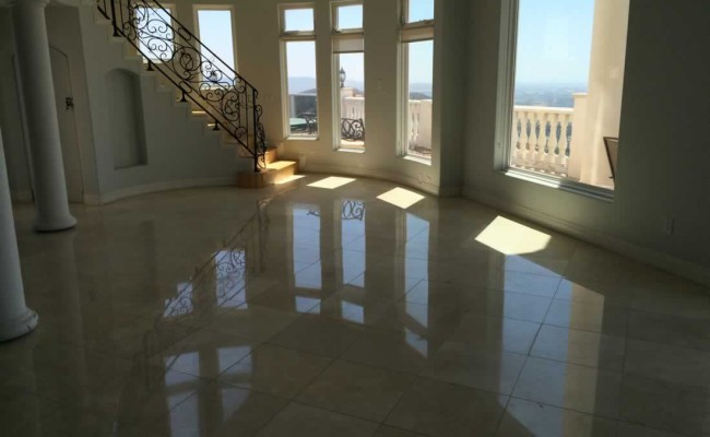 Marble Floor After Honing and Polishing