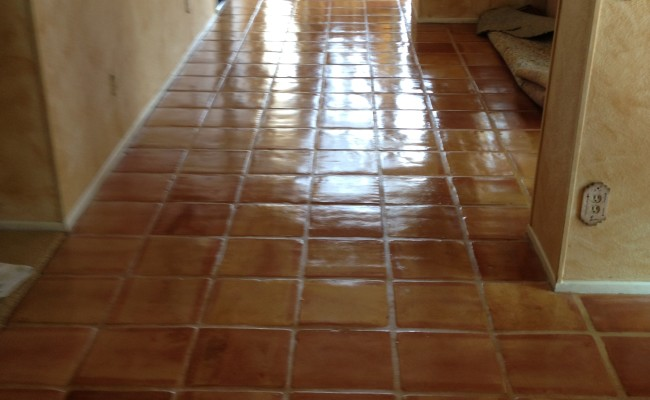 Mexican Pavers After Cleaning and Sealing
