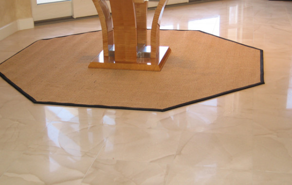 Limestone Honed, Polished, and Sealed