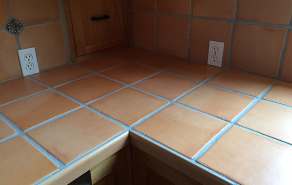 Tile Countertop Color Sealed