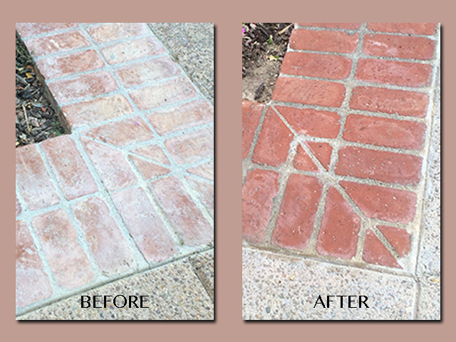 Bricks Cleaned and Stained