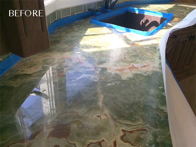 Onyx Countertop Polishing San Diego