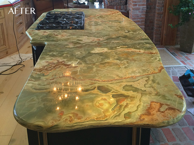 Polished Onyx Bar Top