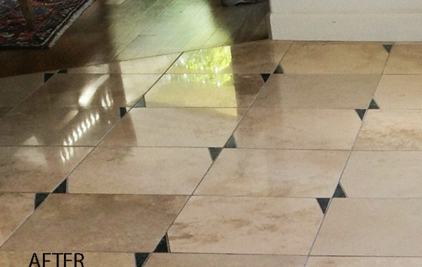 Travertine With Granite Inlays