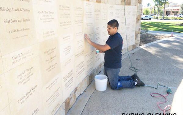 Veterans Memorial Wall Restored