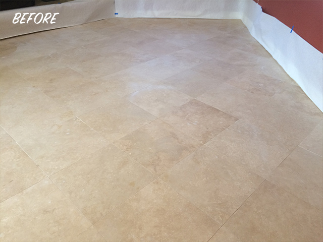 Soft Matte Travertine Finish