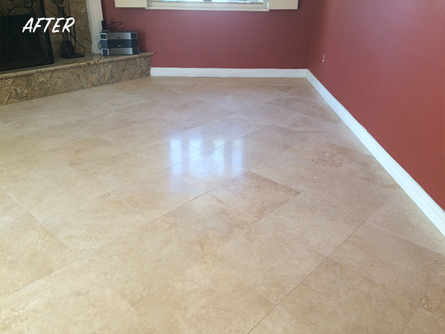 High Honed Travertine Finish