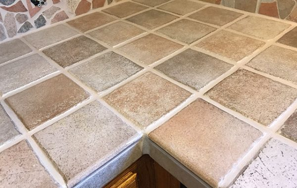 Tile Countertop Grout Color Sealed